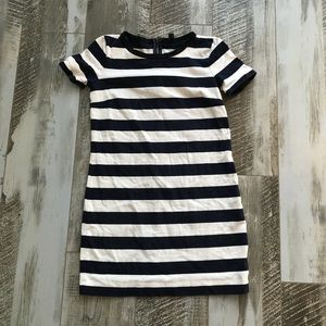 J Crew Striped Mini Dress